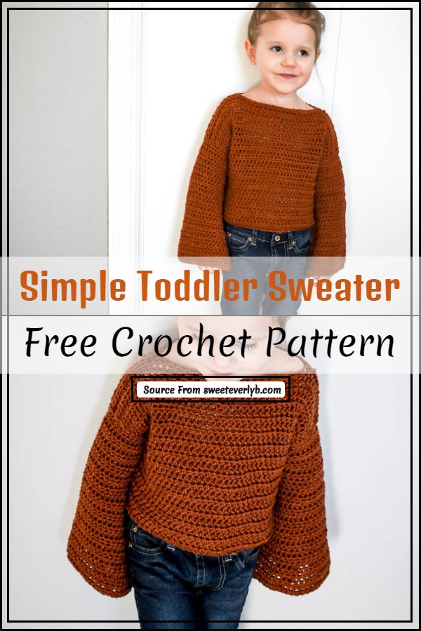 Simple Crochet Toddler Sweater