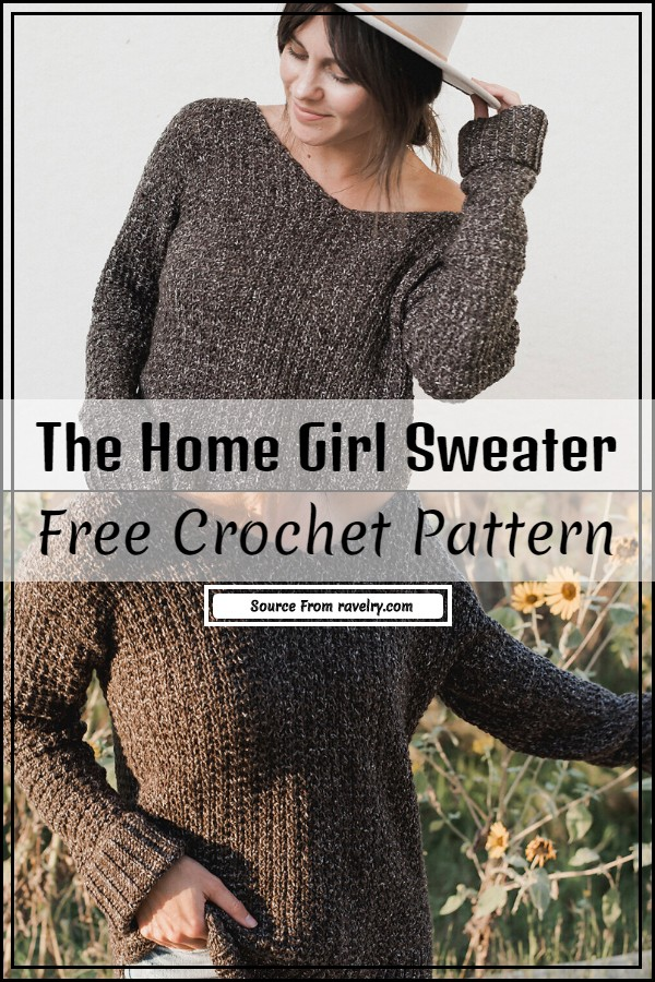 The Home Girl Crochet Sweater Free Pattern