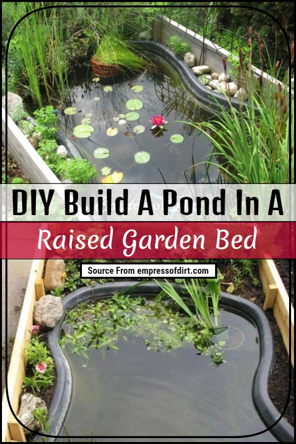 Build A Pond In A Raised Garden Bed