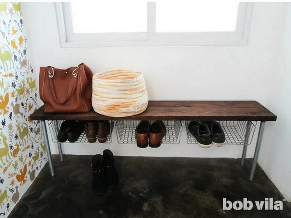 DIY Declutter Your Entry With An Easy Shoe Storage Bench