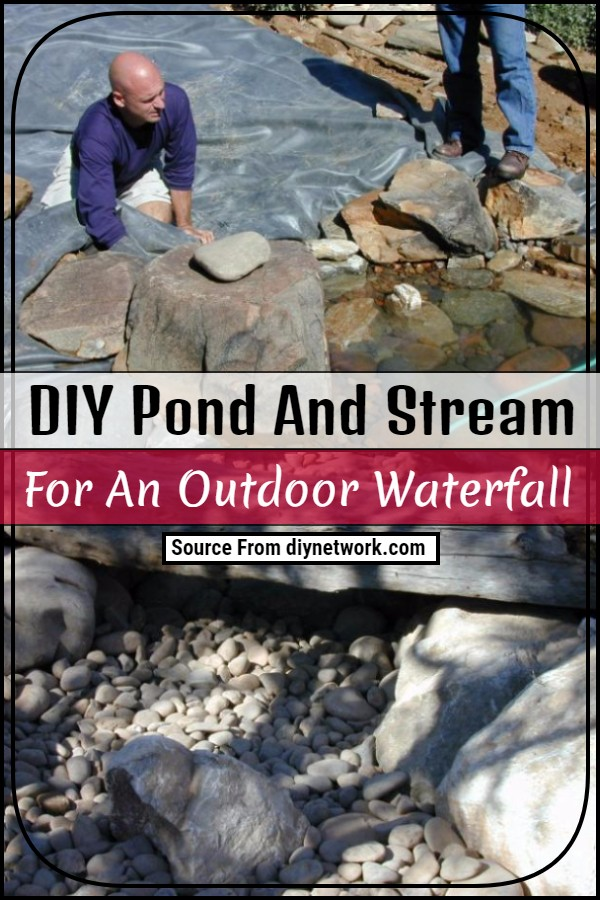 DIY Pond And Stream For An Outdoor Waterfall