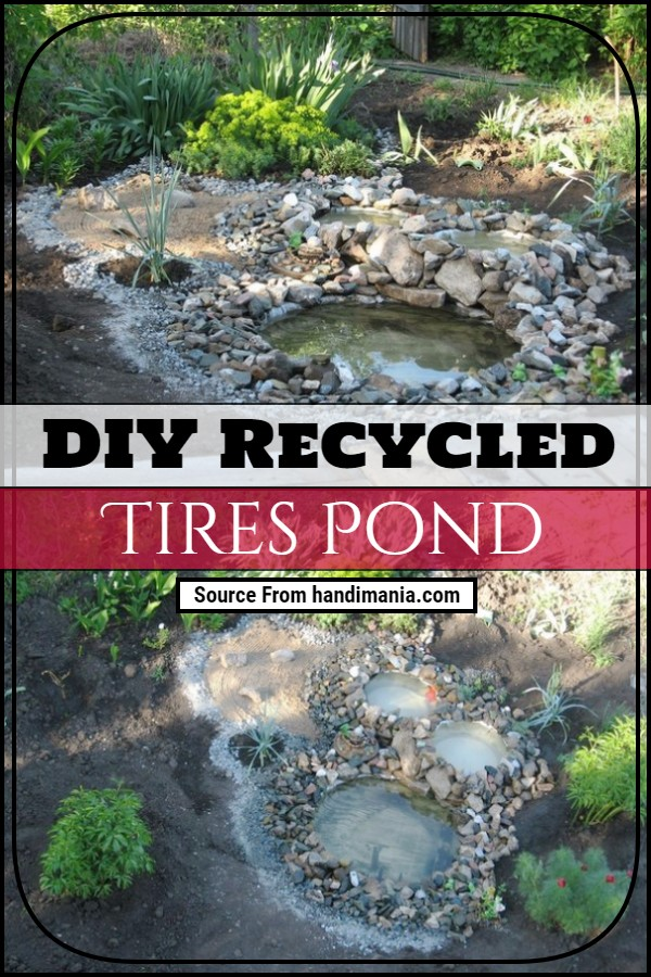 DIY Recycled Tires Pond