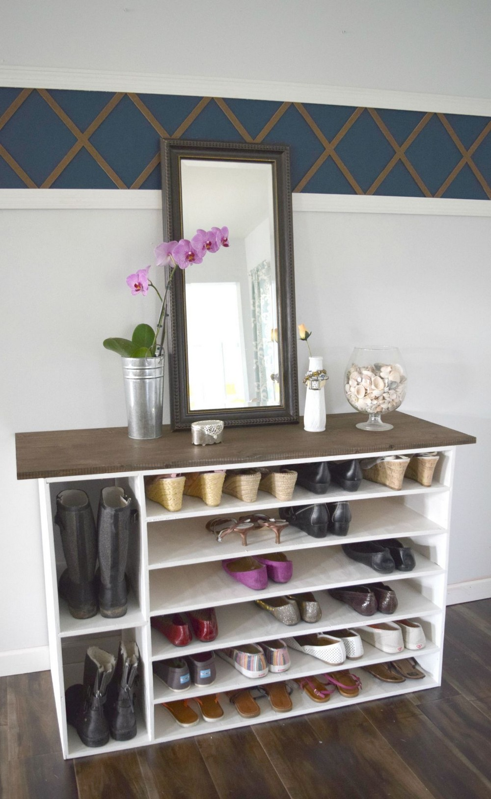 DIY Stylish Shoe Rack Perfect For Any Room
