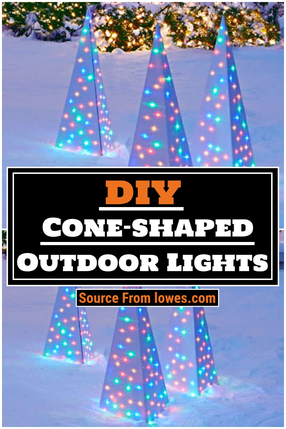 Cone-shaped Outdoor Lights