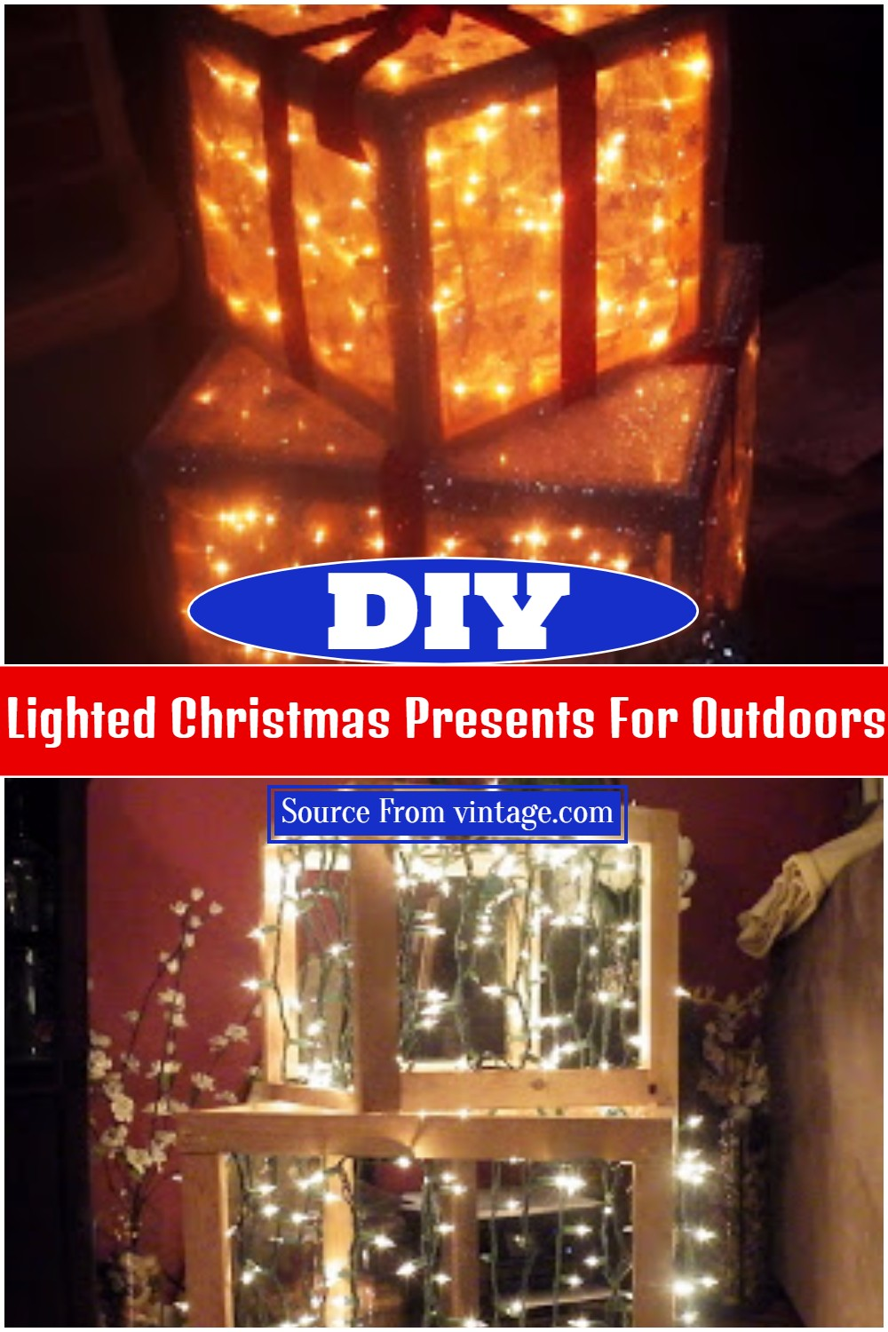 DIY Lighted Christmas Presents For Outdoors