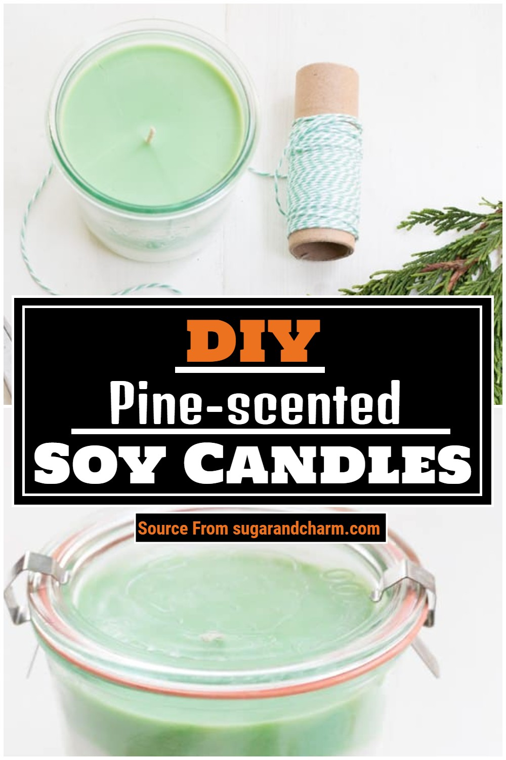 DIY Pine-scented Soy Candles