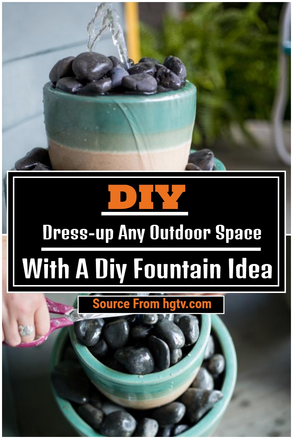Dress-up Any Outdoor Space With A Diy Fountain Idea