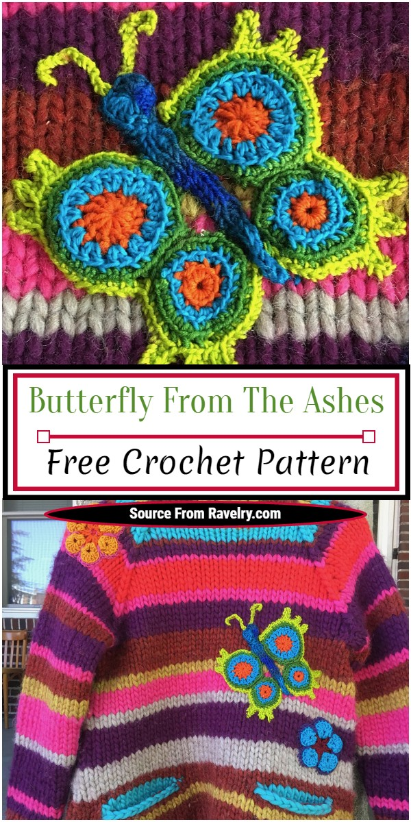 Free Crochet Butterfly From The Ashes Pattern