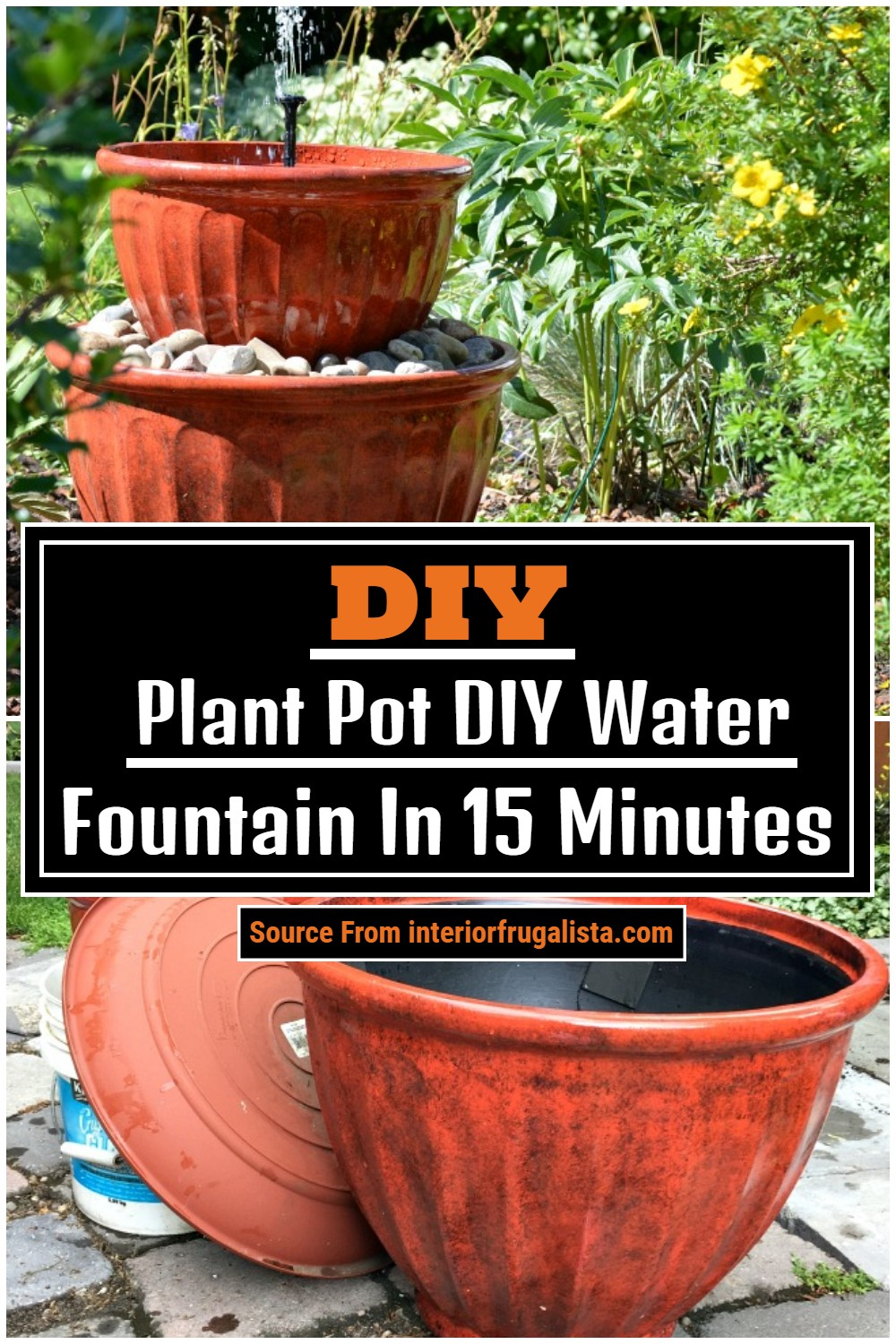 Plant Pot DIY Water Fountain In 15 Minutes