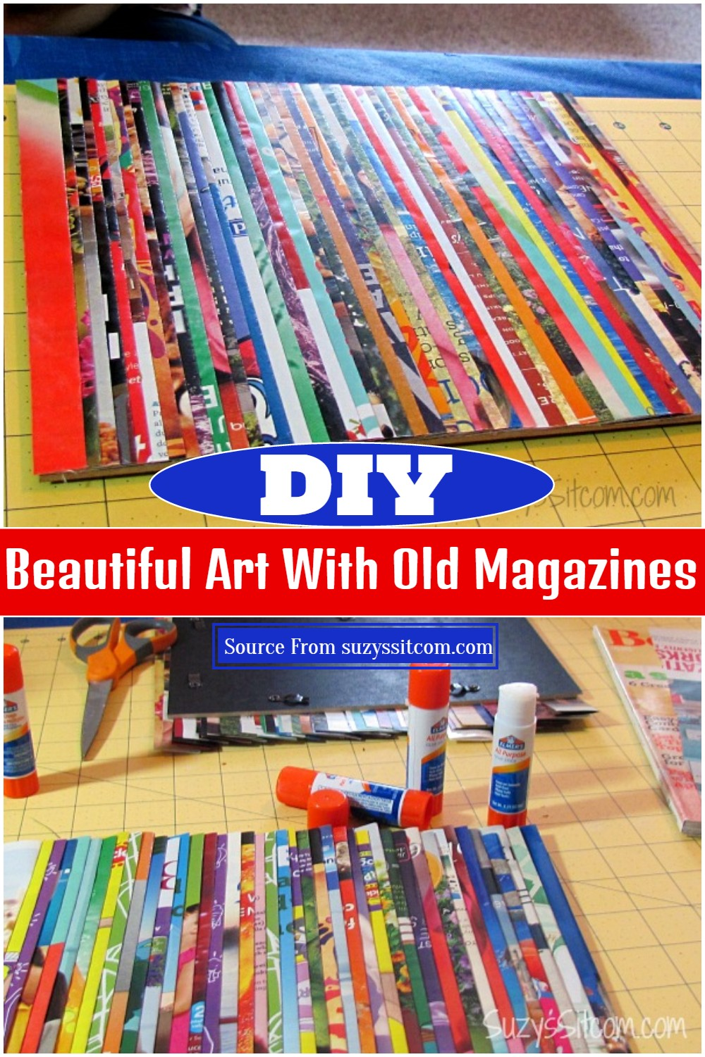 Beautiful Art With DIY Old Magazines