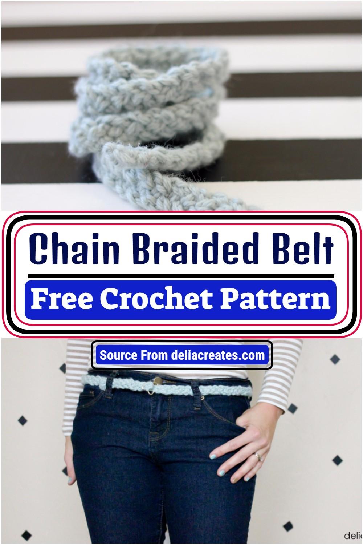 Chain Braided Crochet Belt Free Pattern