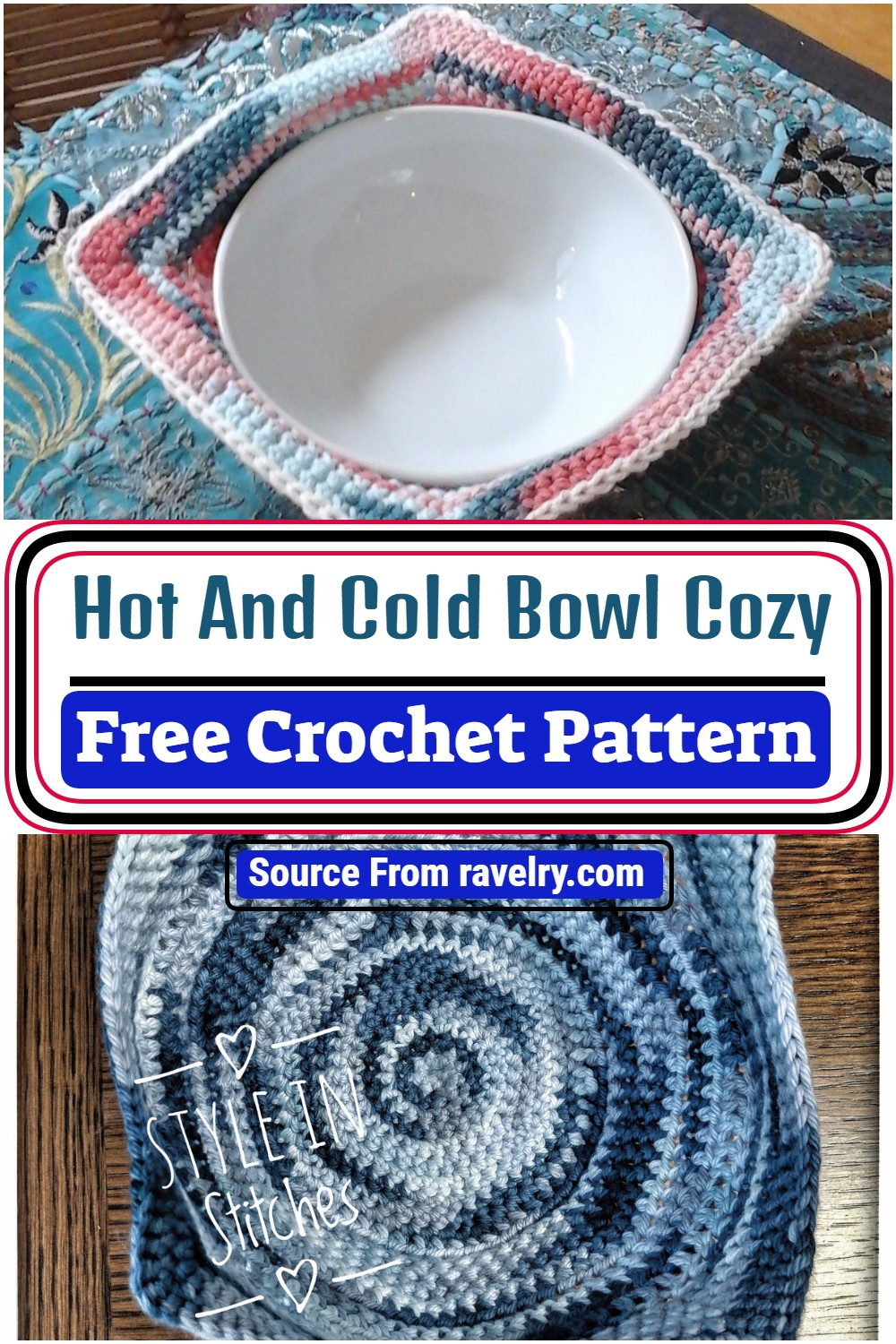 Crochet Hot And Cold Bowl Cozy