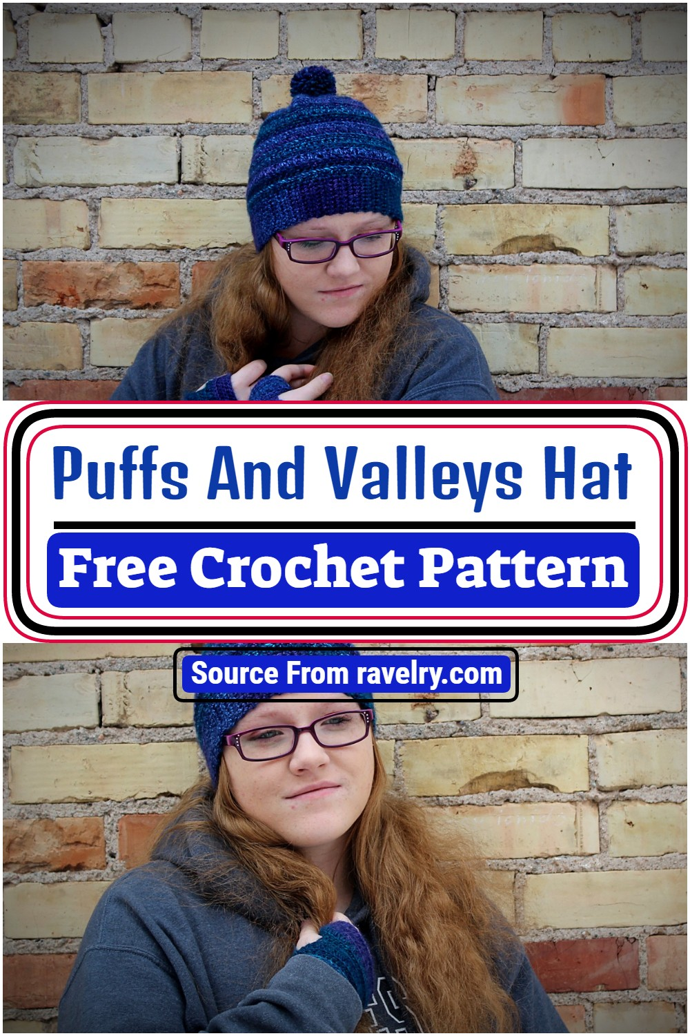 Free Crochet Puffs And Valleys Hat Pattern