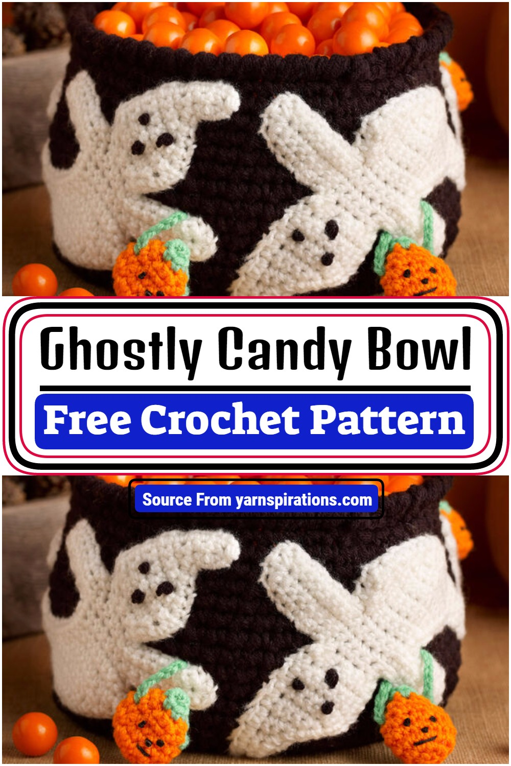 Ghostly Candy Crochet Bowl Pattern