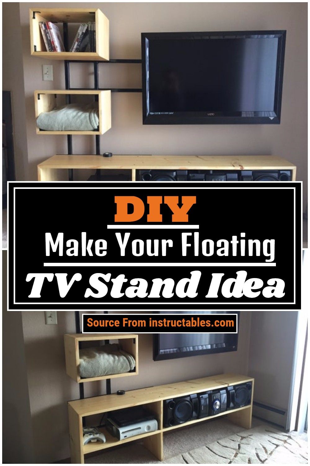 Make Your DIY Floating TV Stand Idea