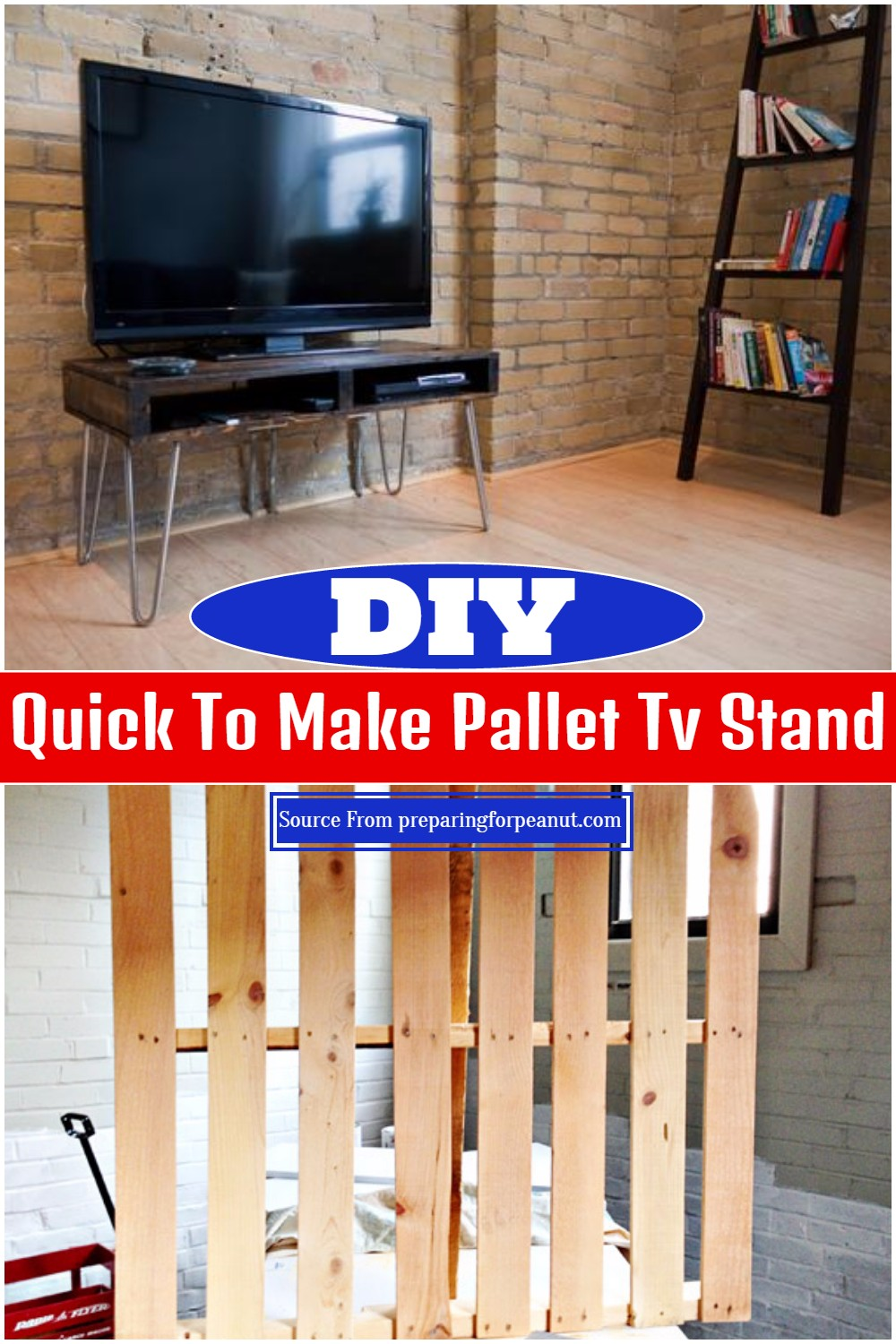 Quick To Make DIY Pallet Tv Stand