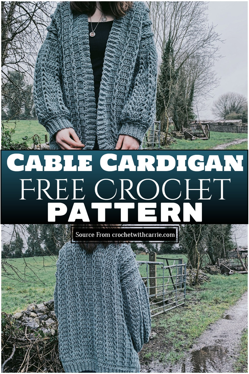 Cable Cardigan Crochet Pattern