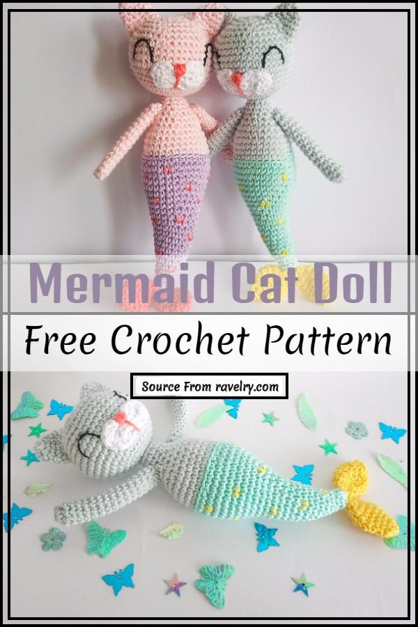 Crochet Mermaid Cat Doll Pattern