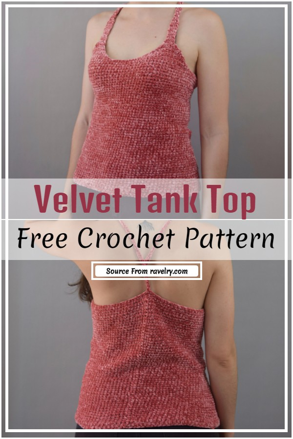 Crochet Velvet Tank Top