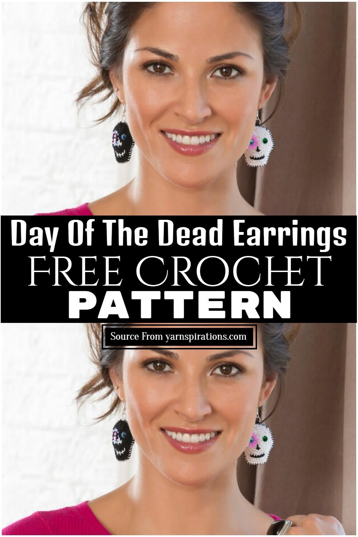 Day Of The Dead Earrings Crochet Pattern