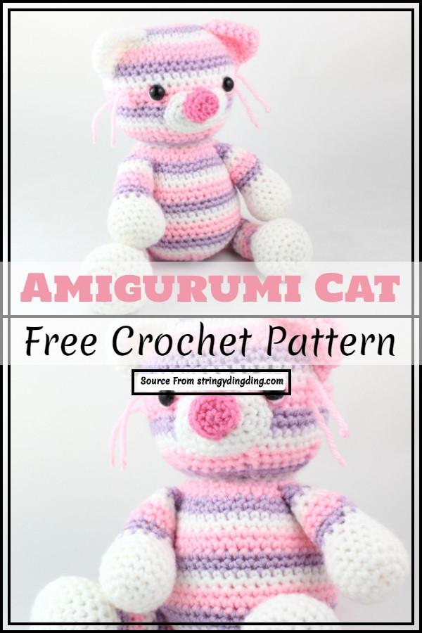 Free Amigurumi Pattern Cat Crochet