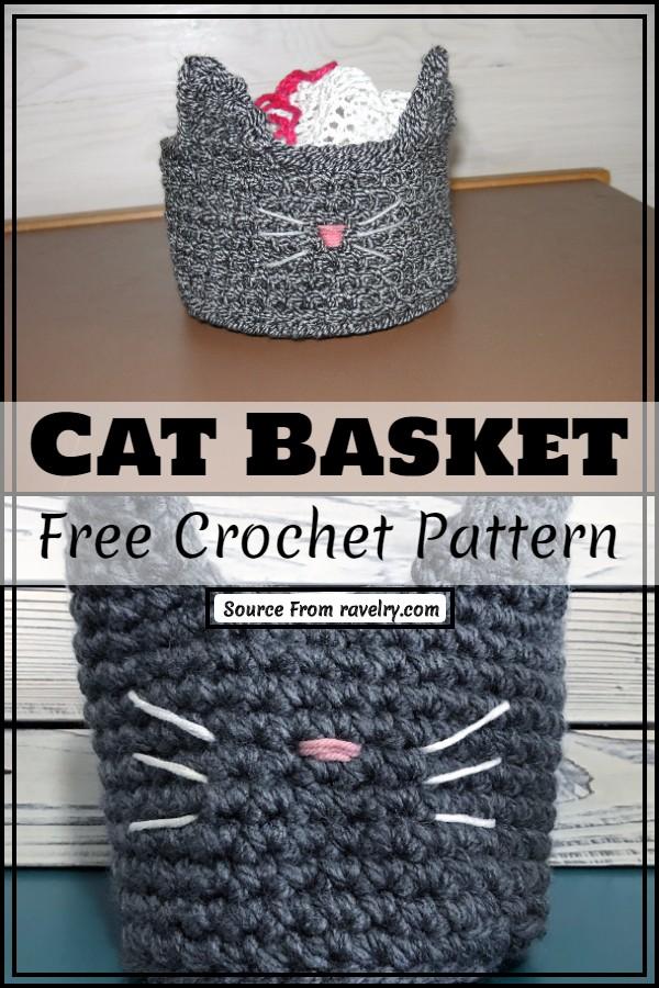 Free Crochet Cat Basket Pattern