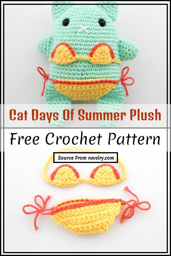 Free Crochet Cat Days Of Summer Plush Pattern