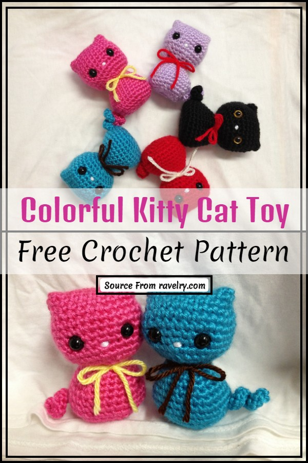 Colorful Kitty Toy Pattern