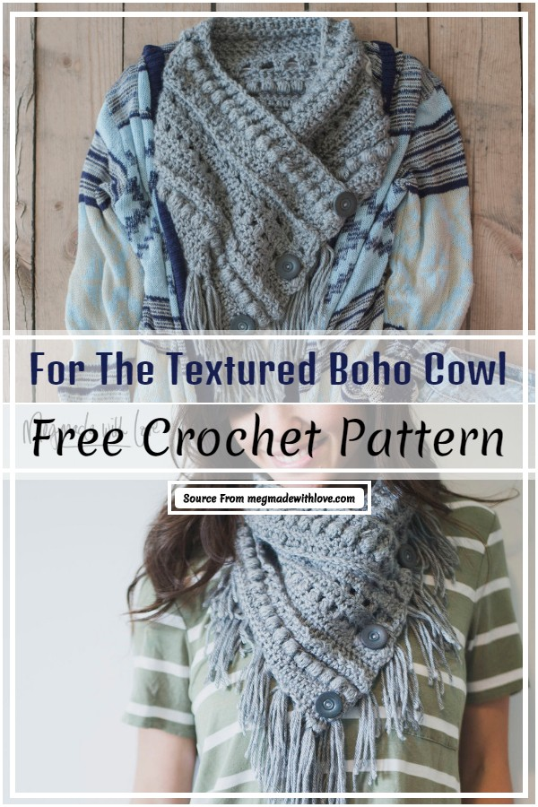 Free Crochet For The Textured Boho Cowl Pattern