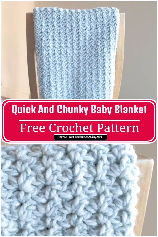 Free Crochet Quick And Chunky Baby Blanket
