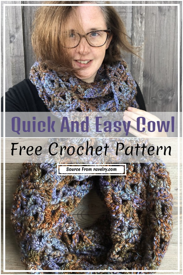 Free Crochet Quick And Easy Cowl Pattern
