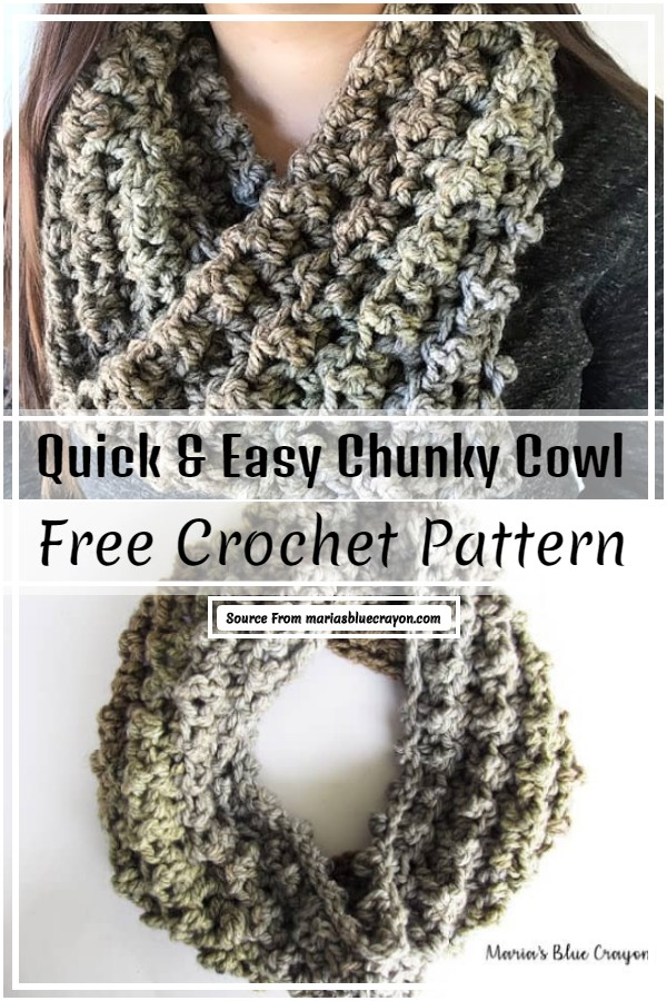 Quick & Easy Chunky Cowl Crochet Pattern