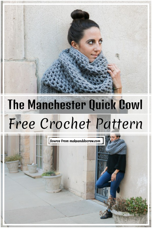 The Manchester Quick Crochet Cowl Pattern