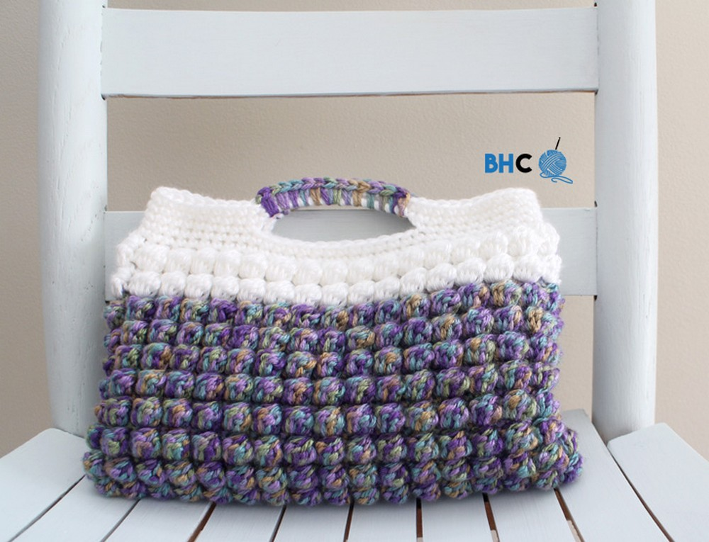 Crochet Bobble Stitch Clutch Bag Pattern