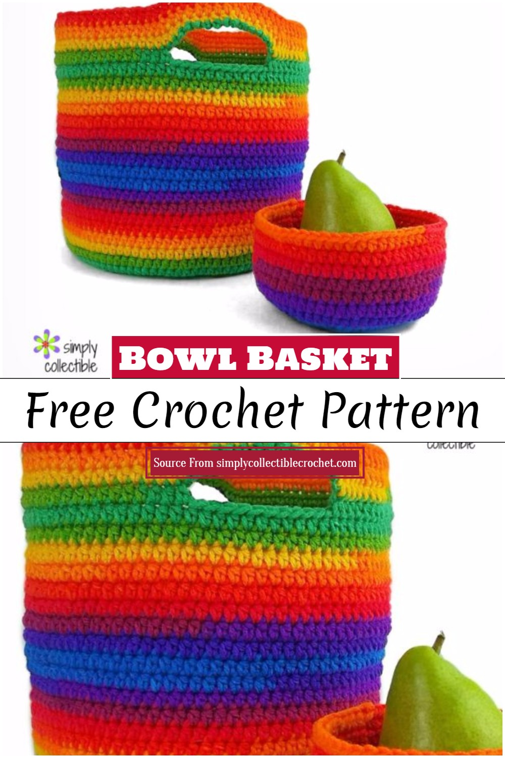 Crochet Bowl Basket Pattern