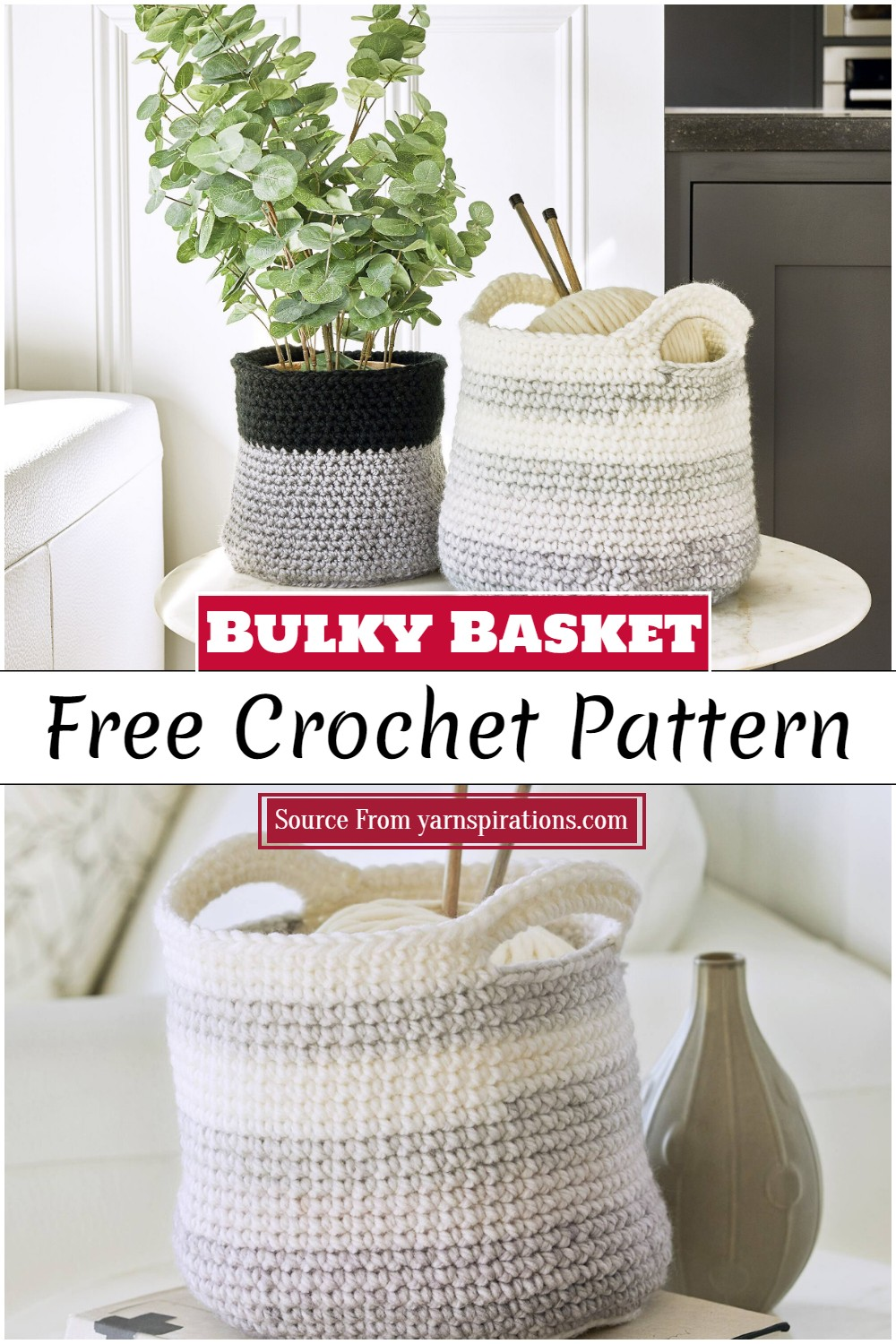 Crochet Bulky Basket Pattern