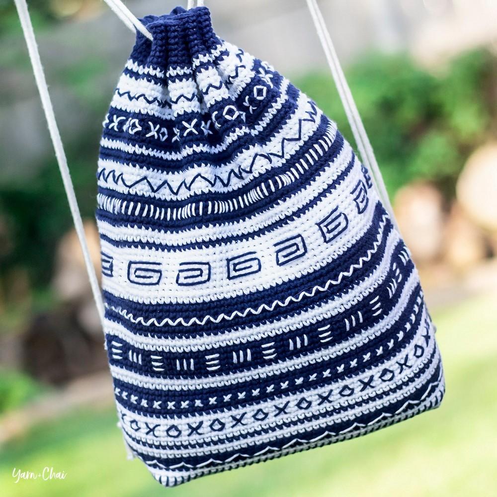 Crochet Cinch Bag Series