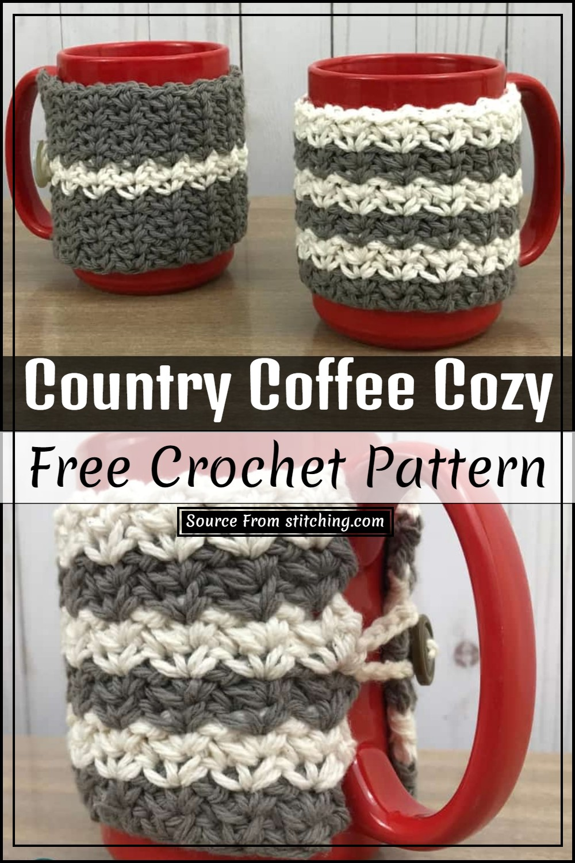 Crochet Country Coffee Cozy Pattern