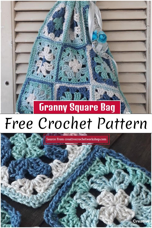 Crochet Granny Square Bag Pattern
