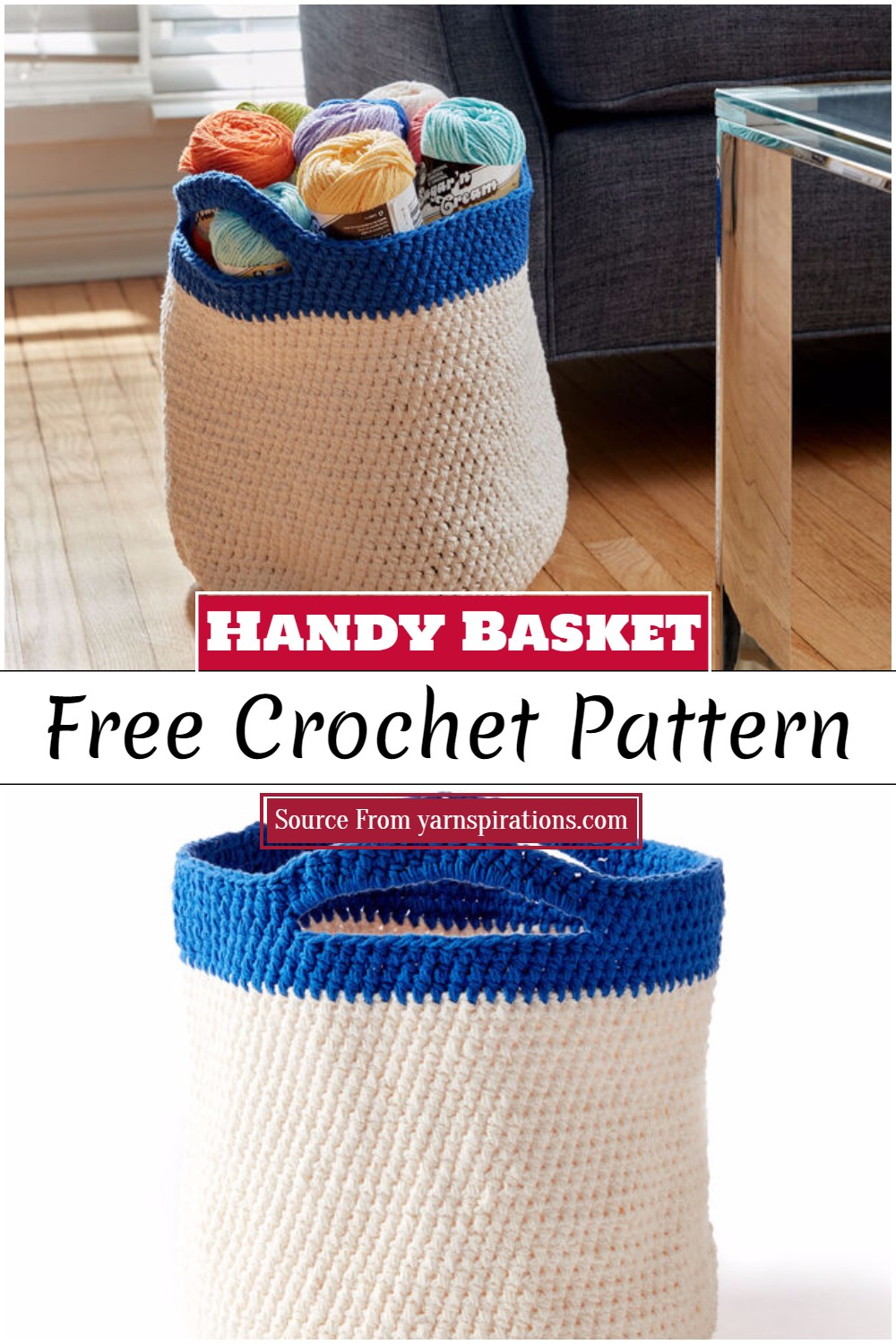 Crochet Handy Basket Pattern