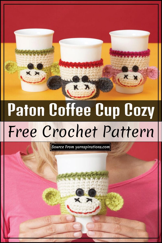Crochet Paton Coffee Cup Cozy Pattern