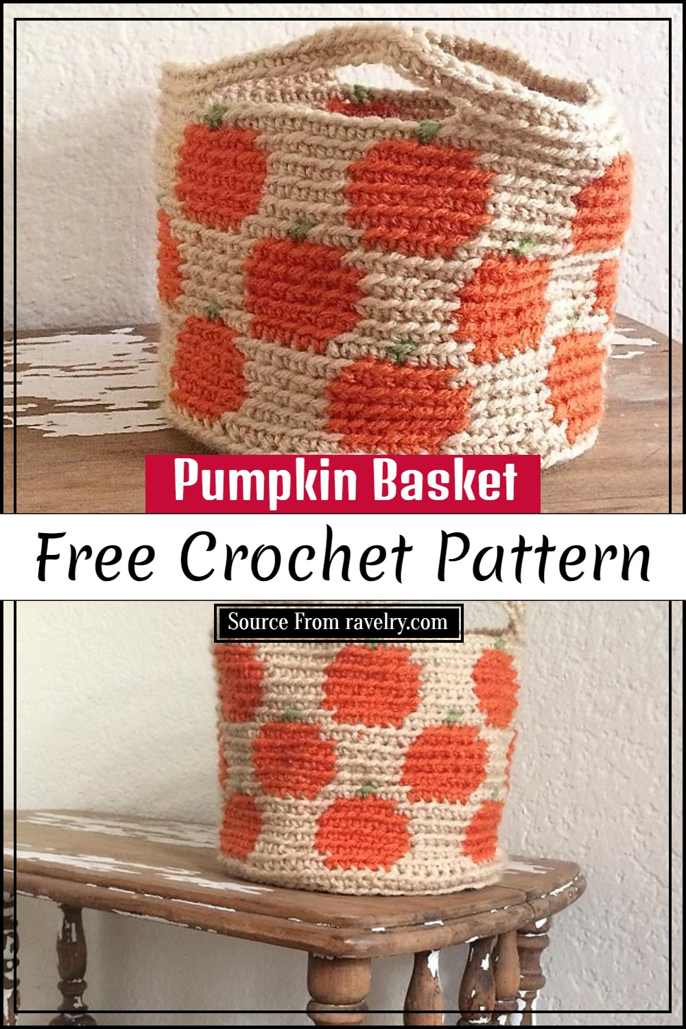 Crochet Pumpkin Basket Pattern