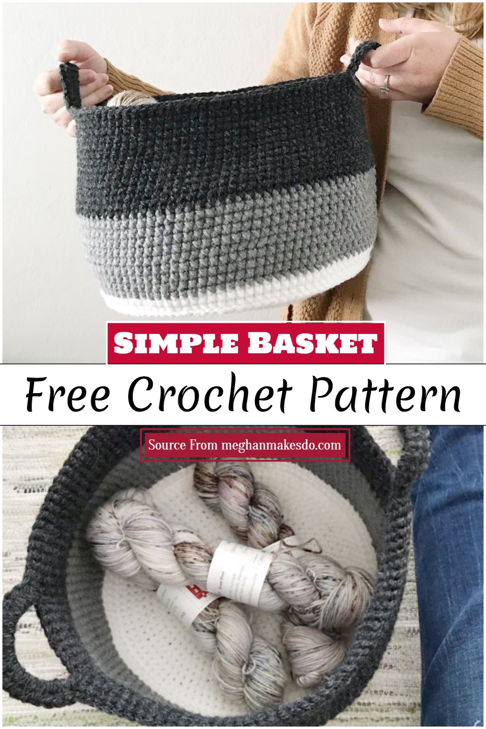 Crochet Simple Basket Pattern