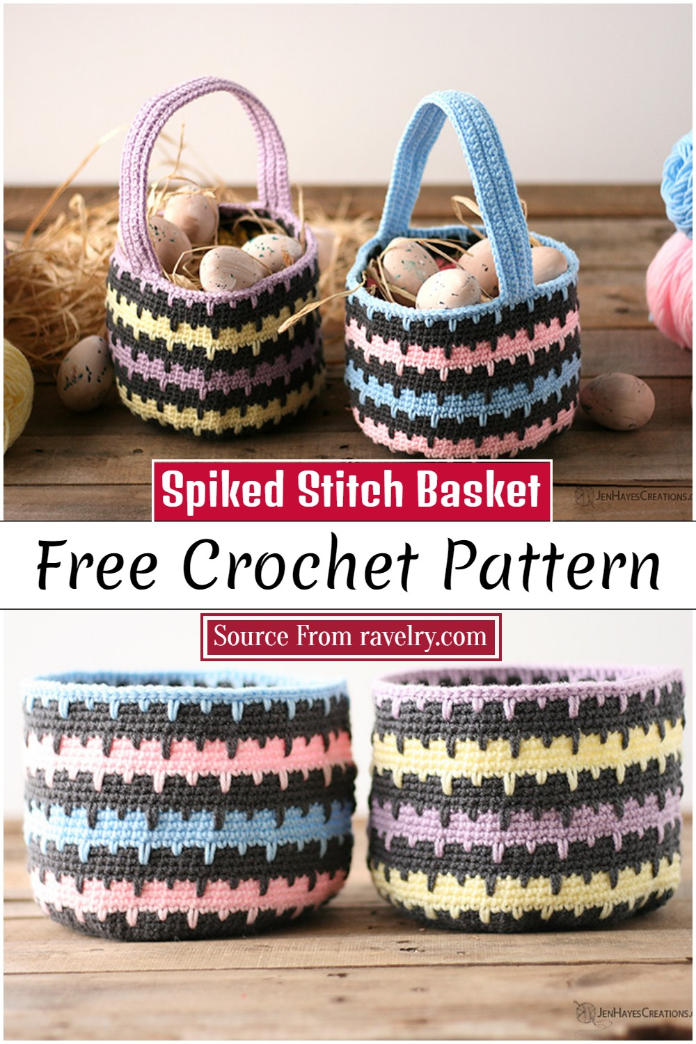 Crochet Spiked Stitch Basket Pattern