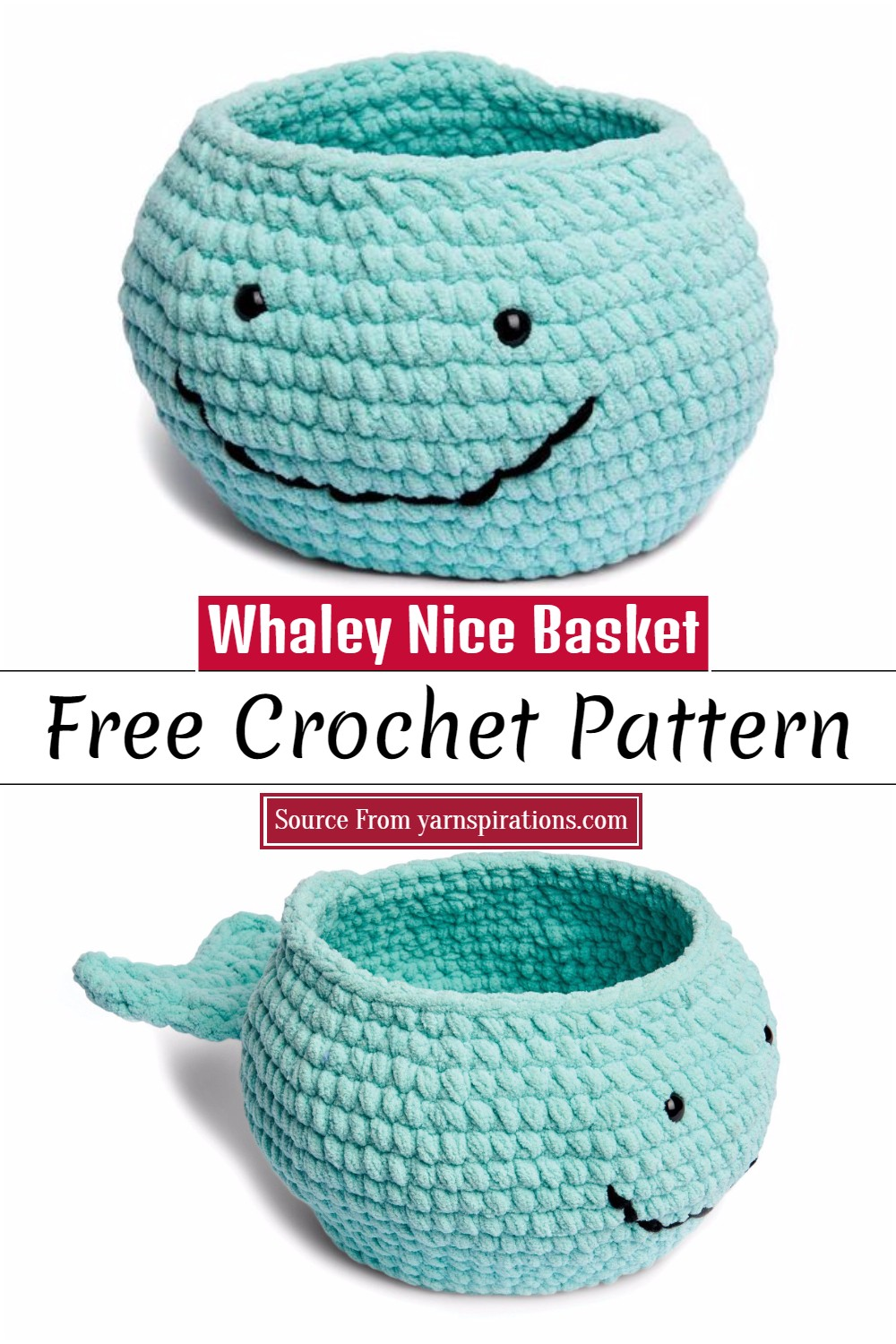 Crochet Whaley Nice Basket Pattern