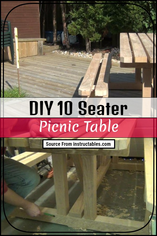 DIY 10 Seater Picnic Table