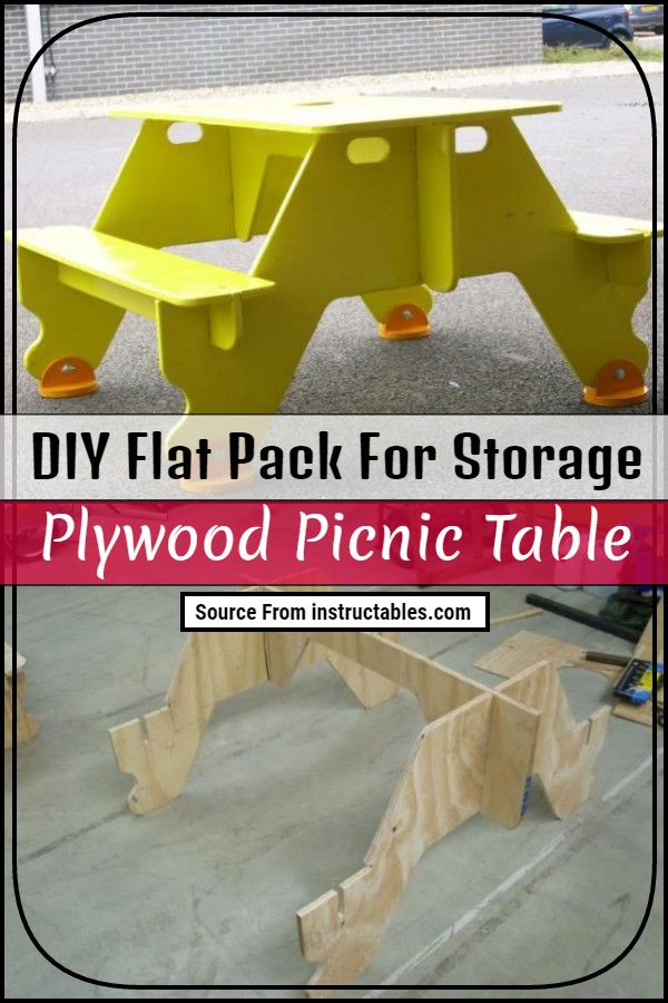 DIY Flat Pack For Storage Plywood Picnic Table
