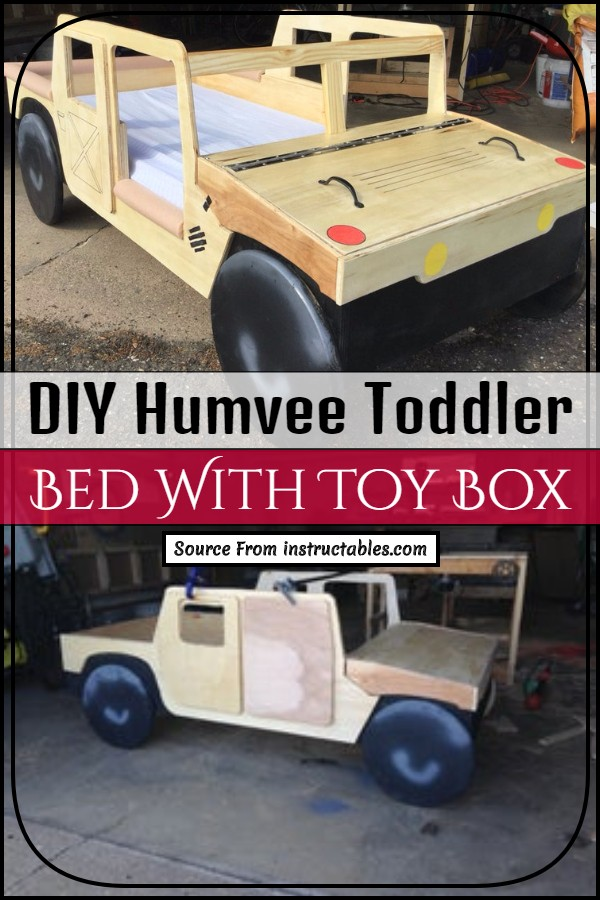 DIY Humvee Toddler Bed With Toy Box
