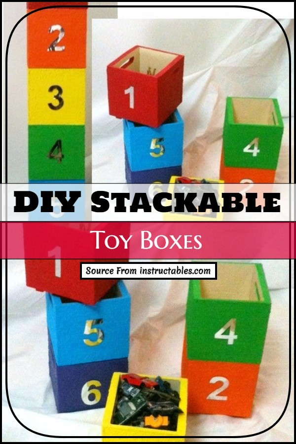 DIY Stackable Toy Boxes