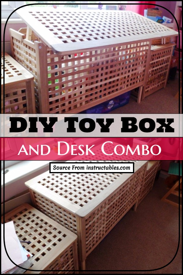 DIY Toy Box and Desk Combo